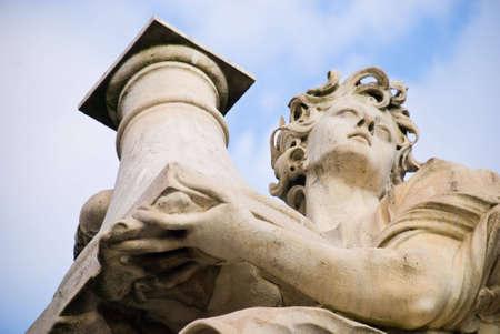 xv century: Angel with the Column (Throne). Situated on the bridge of Castel SantAngelo, Rome Italy. XV Century.