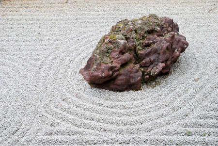 Rock in a traditional japanese rock garden in Koya-san, Japan. photo