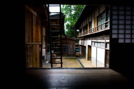 daito: A view from inside of Kongobuji temple in Mount Koya, Japan