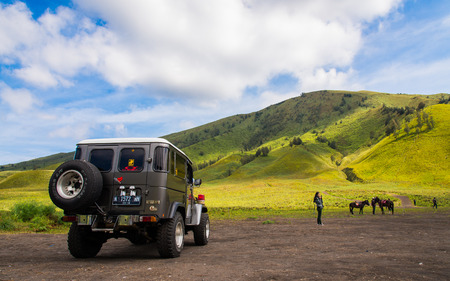 savana: Jeep at savana, Bromo
