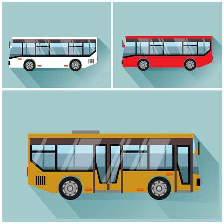 bus anglais: illustration style bus flet vector Illustration