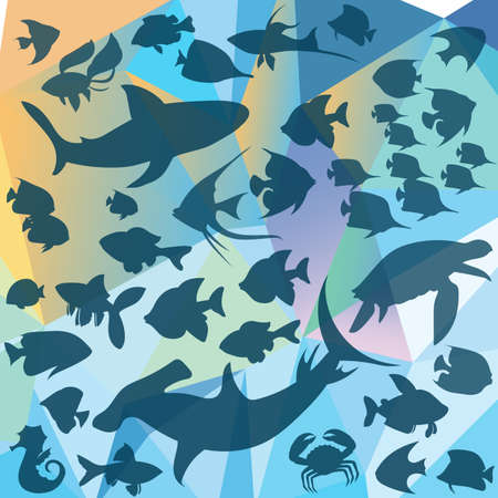 white salmon river: Fish made in the vector Illustration