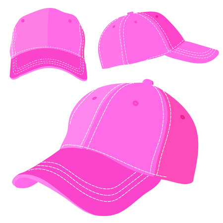 Purple cap on a white background. Vector illustration Eps10 file Illustration
