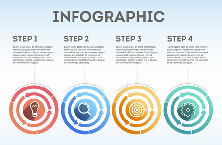 Infographic. Business infographics. Infographics for marketing. Business infographic template. Business concept. Modern infographic for business concept. Can be used for workflow layout, information, banner, diagram, web design. Vector illustration Eps10 file Illustration