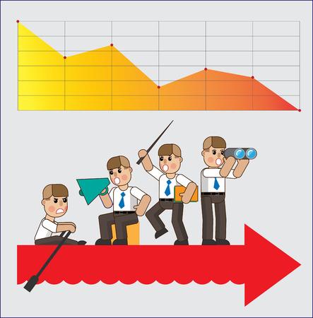 Mala administración. Mal equipo para el negocio. Ilustración de concepto de negocio en diseño plano isométrico. Archivo de ilustración vectorial Eps10 Ilustración de vector