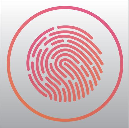 Mobile application for recognition fingerprint. Vector illustration