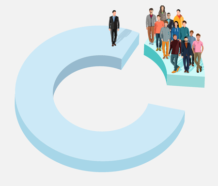 Businessman attention. Business people hire concept. Businessman of influence. Human resource and recruitment. Distinguished businessman. Search the employees on the project. Flat style. Flat design