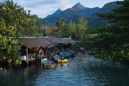 trat: Little port in Koh Chang Trat Thailand