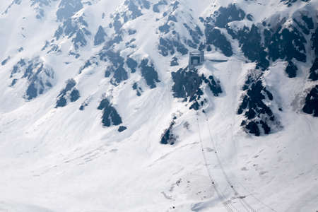 ropeway: Snow mountain with ropeway