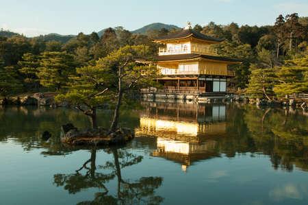 japan sky: Kinkakuji temple (Golden pavilion) in Kyoto, Japan