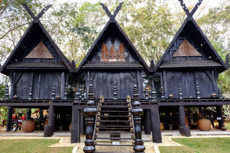 house with style: Black houses (Baan Dum) in Chiangrai province, Thailand