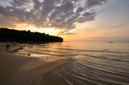trat: Sunset with seascape in Koh Kood, Trat province, Thailand
