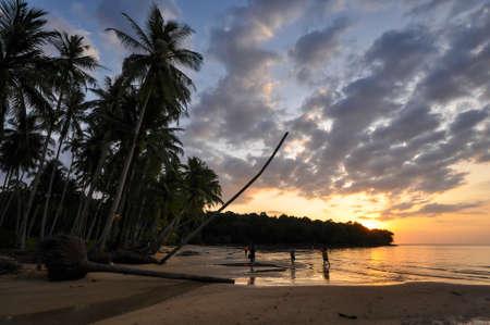 kood: Sunset with seascape in Koh Kood, Trat province, Thailand