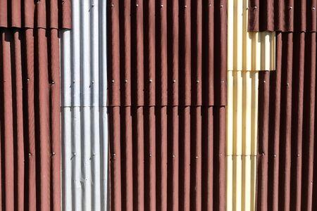 Metallblechhintergrund für Außendesign