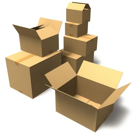 cardboard box Stockfoto
