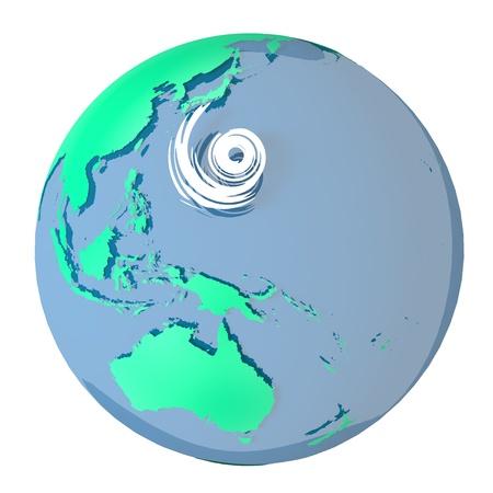 typhoon Stock Photo