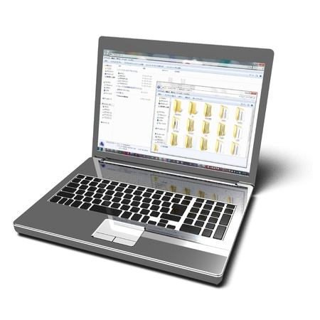 Notebook PC Stockfoto
