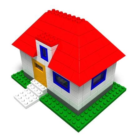 toy block house photo