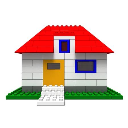 おもちゃのブロックの家
