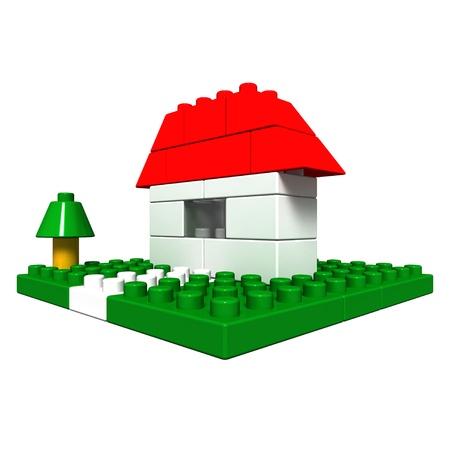 toy block house Stock Photo