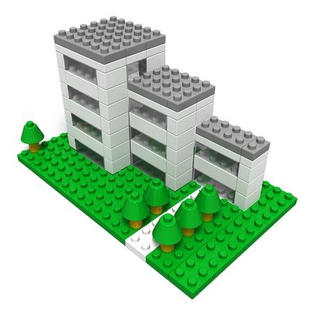 apartment (made toy blocks)