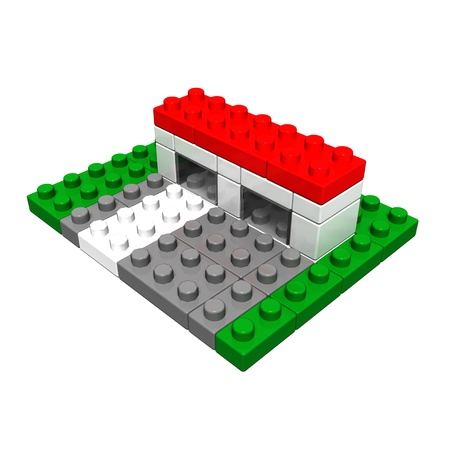 convenience store: convenience store (toy blocks made) Stock Photo
