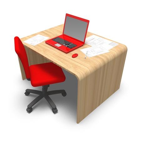 desk work Stock Photo