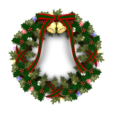 wreath: christmas wreath Stock Photo