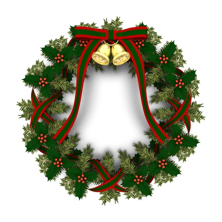 christmas wreath: christmas wreath Stock Photo