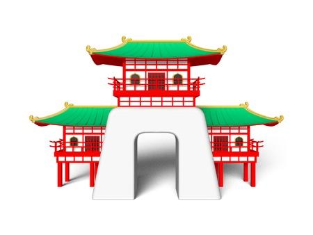 Japans legendary Palace Stock Photo
