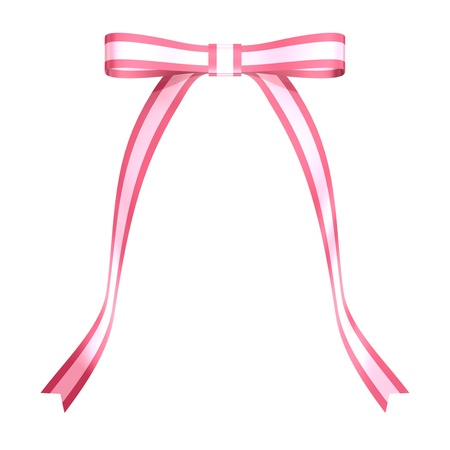 Pink ribbon of butterfly knot photo