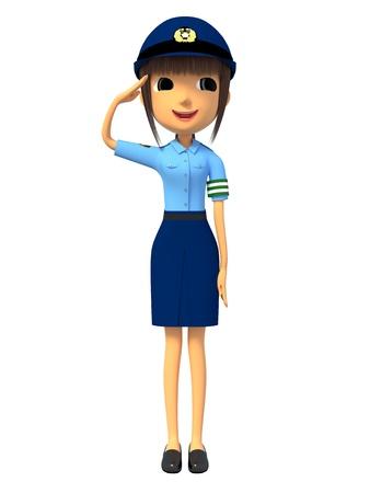 traffic warden: Japanese policewoman