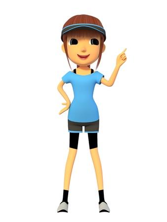 Una mujer vestida con ropa deportiva Foto de archivo - 15847070