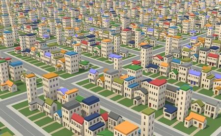 Bird s-eye view of the city Stockfoto