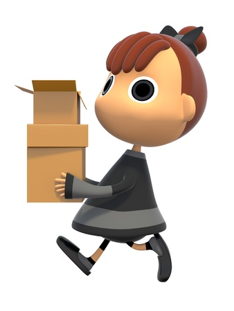 Carrying a cardboard box Stock Photo - 17921639