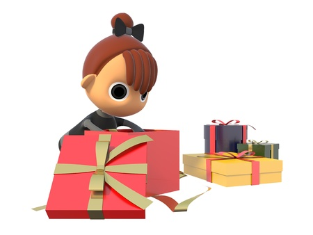 Look in the gift box Stock Photo - 17921716