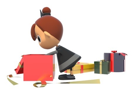 Look in the gift box Stock Photo - 17921722