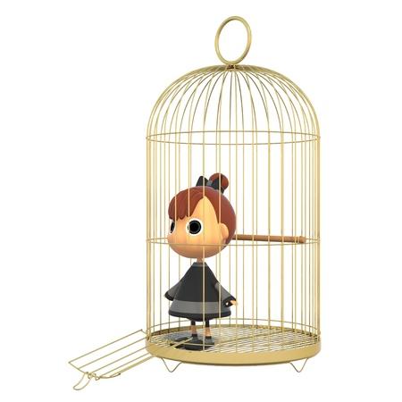 no correr: Intenta salir de la jaula