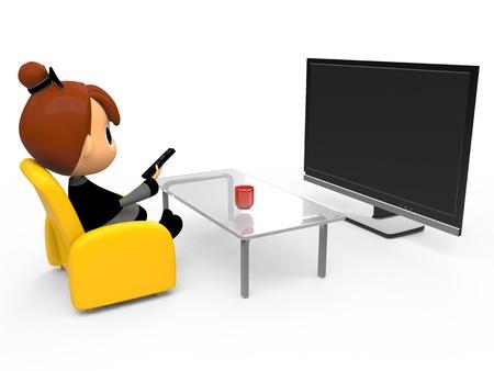 Watching TV Stockfoto