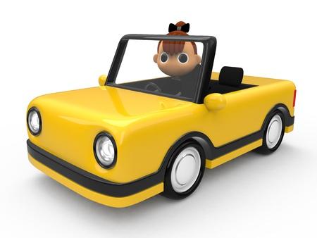 shiniyon: Driving a car Stock Photo