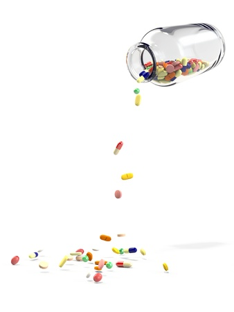 clinical trial: Medicine bottle