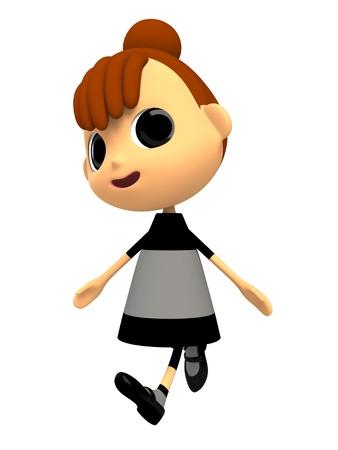 shiniyon: Girl walking with a smile Stock Photo