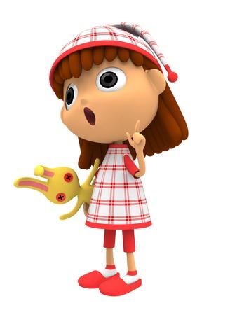rebuttal: Girl dressed in Sleepwear Stock Photo