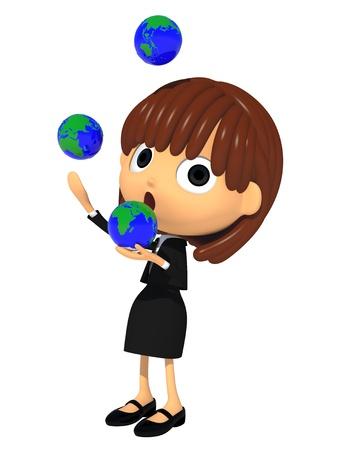 Juggling the globe