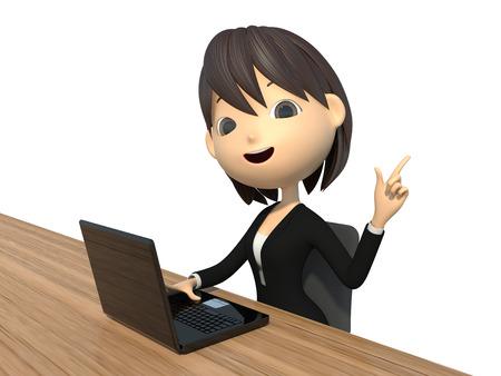 ノート PC を使用する実業家