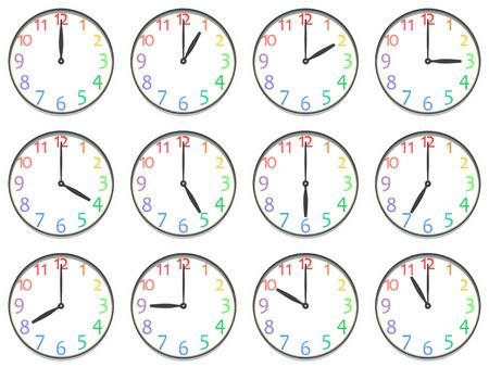 Variation of the clock Stockfoto