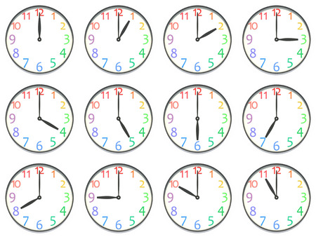 appointed: Variation of the clock Stock Photo