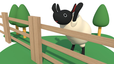 desertion: Sheep in the fence