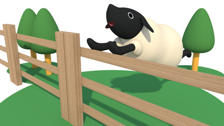 apprehended: Sheep in the fence