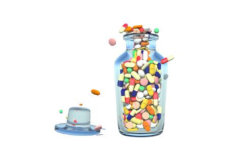 Full of medicine from the bottle